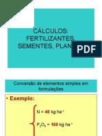 Cálculos Fertilizantes Plantas e Sementes