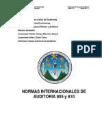 Trabajo 15 Norma Internacional de Auditoría 805 (1)