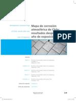 Mapa de Corrosion Al Acero en CHILE