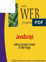 JavaScript - Adding Dynamic Content to Web Pages - Core Web Programming - Chapter 24