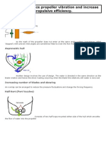 Designs to reduce propeller vibration and increase propulsive efficiency.doc