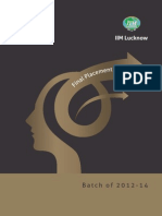 IIM Lucknow Final Placements Brochure