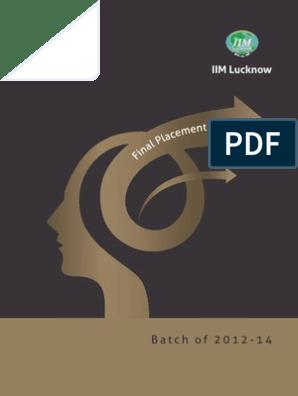 IIM Lucknow Final Placements Brochure | Analytics | Economies