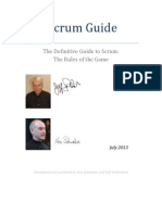 Scrum Guide 2013 (Changes)