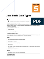 Java Basic Data Types