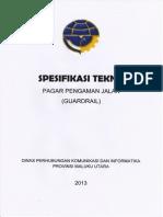 Spesifikasi Teknis Guardrail Apbd