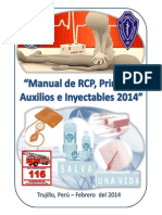Manual Rcp, Primeros Auxilios Inyectables 2014