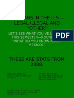 """Mexicans in the u.s.— Legal Illegal and """"other"""""""