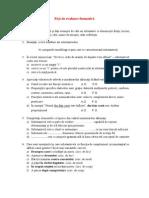 Fișă de Evaluare Formativă