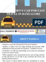 HIRE EZIDRIVE CAB FOR EASY TRAVEL IN BANGALORE