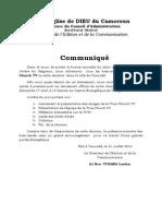 Lancement Communique(1)