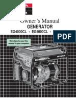 Honda Generator Manual Eg6500 4000cl 5000cl