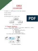 Unit i Notes