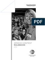 Toastmaster Speech Contest Book