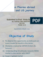 Indian Pharma Abroad View US Journey