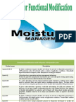 Moisture management products--Products For Functional Modification