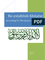 Re-establish Khilafah According to Quran and Sunah