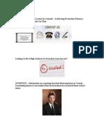 Franchise Financing Loans In Canada