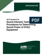 Sound Intensity Testing