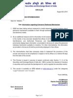 Information regarding Grievance Redressal Mechanism