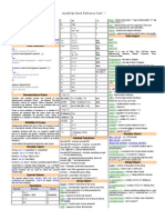 JavaScript Quick Reference Cheat Sheet