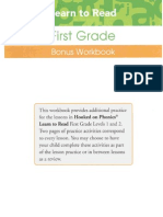 First Grade Bonus Workbook Odd Pages