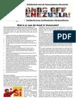 Pamflet Handen Af van Venezuela Augustus 2014