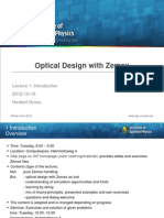 ODZ_Optical Design With Zemax 1 Introduction