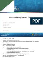 Zemax in general | Optics | Lens (Optics)