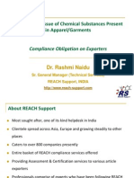 REACH & Issue of Chem in Apparel
