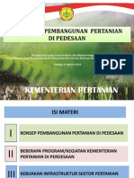 Kebijakan Pembangunan Pertanian di Perdesaan