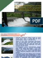 Pengembangan Pembangkit Listrik Tenaga Mini Hidro sebagai Sumber Energi Terbarukan Desa