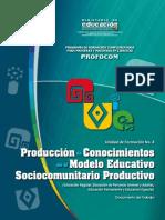 Producción de Conocimientos en El Modelo Educativo Sociocomunitario Productivo