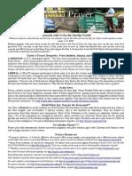 Jumaa Prayer Bulletin 29 August 2014