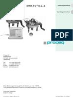 Proceq Operating Instructions Dyna E