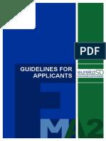 EUREKA SD Guidelines for Applicants En