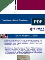 Tratamiento Tributario de Donaciones (Perú)