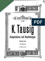 Originalkompositionen Und Bearbeitungen Klassischer Werke Für Pianoforte (Tausig, Carl) Volumen 1