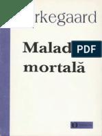 Soren Kierkegaard Maladia Mortala