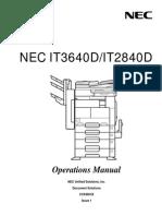 IT2840D 3640D Copier Operation Manual