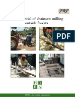 Chainsaw Milling Summary Report