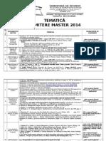 Tematica Master 2014