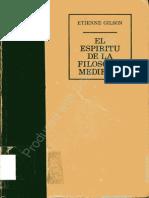 Gilson Etienne - El Espiritu de La Filosofia Medieval