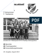 Vereinszeitung Nr. 29 (August 2014)