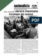La clase obrera mexicana irrumpe de nuevo