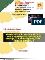 Innovaciones TIC Web20 Oct 08