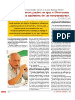 «Nuestra preocupación es que el Provraem persista en la exclusión de las cooperativas».