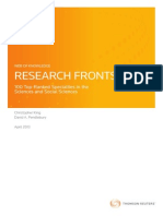 Thomson Research Fronts 2013