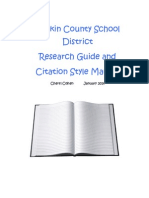 RCSD Research Manual - 2014