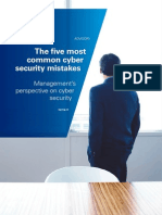 Five Most Common Cyber Security Mistakes